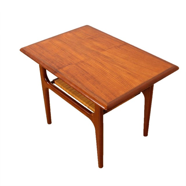 Vintage Danish Teak & Cane Accent Tables - A Pair - Image 2 of 5