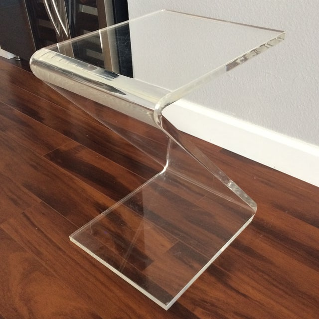 Vintage Lucite Z End Table Mascheroni Style - Image 7 of 7