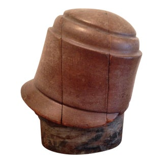 Antique Wooden Hat Block