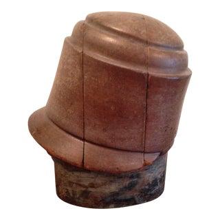Antique Wooden Hat Block