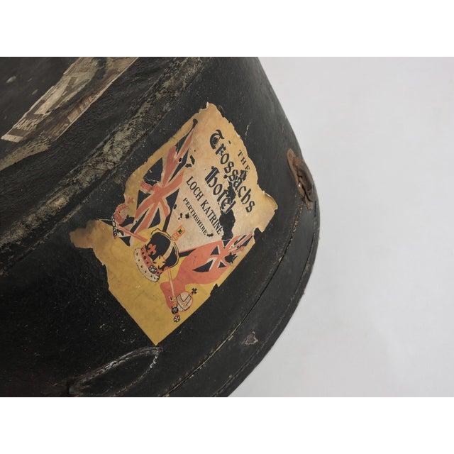 European Depression Era Travel Decals Hat Box - Image 6 of 6