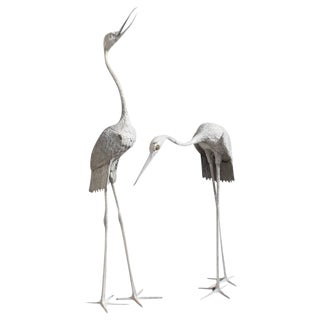Monumental Art Deco Flamingo Sculptures - A Pair Circa 1950s