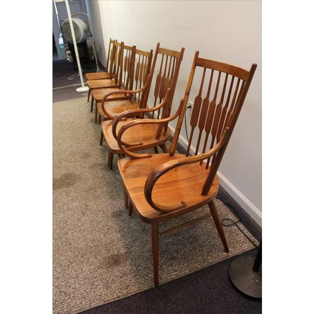 Kipp Stewart Paddle Back Chairs - Set of 6 - Image 4 of 11