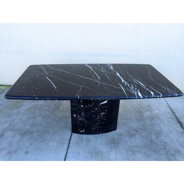 Black Modern Italian Marble Dining Table - Image 2 of 10