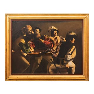 """20th Century Oil Painting after """"The Calling of St. Matthew"""" by Caravaggio"""