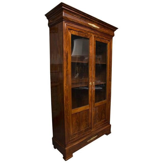 19th Century French Empire Mahogany Bookcase - Image 2 of 10