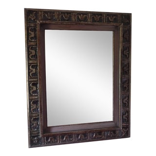 Elegant Hand-Carved French 1940s Modern Neoclassical Mirror