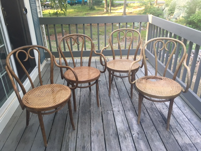 Bentwood Armchairs In The Style Of Michael Thonet Set Of