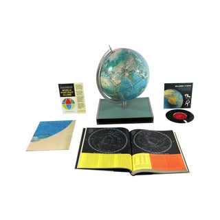 1960s Rand McNally New World Portrait Globe Set