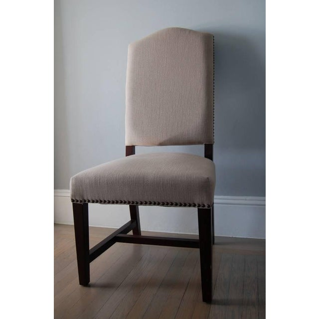 High Back Upholstered Dining Chairs - Pair - Image 2 of 5