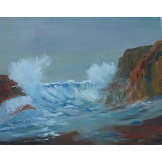 MCM Painting of Rocky Shore by H.L. Musgrave