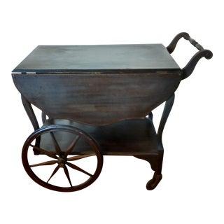 Antique Walnut Tea Cart Trolly