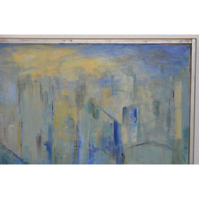 Mid Century Modern Abstract Cityscape by Mary Carey c.1950s - Image 3 of 7