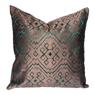 Custom Fortuny Velvet Double Sided Pillow Cover