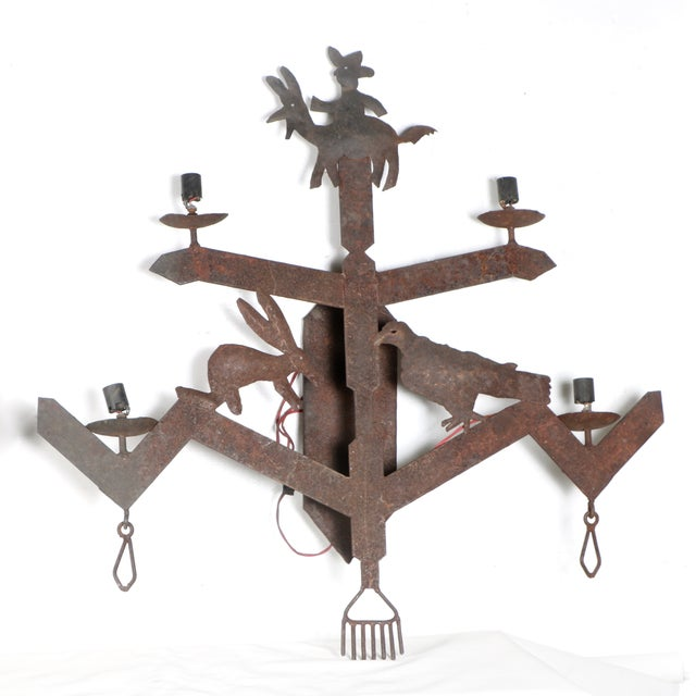 Southwestern Wrought Iron Sconces - Pair Chairish
