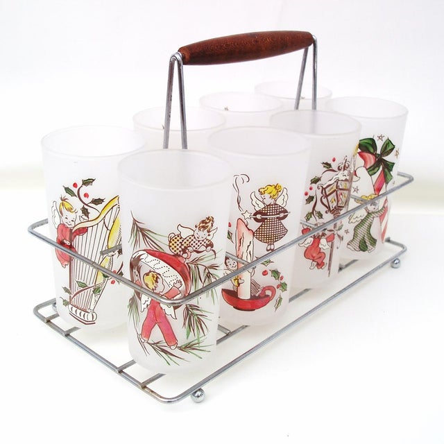 Rare Angel Barware Gay Fad Glasses Caddy - S/9 - Image 4 of 7