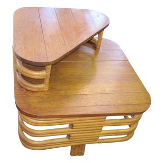 Mid-Century Modern Rattan Table Paul Frankl