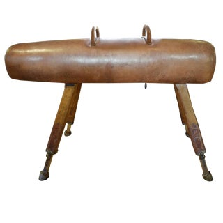 Wood and Leather Pommel Horse