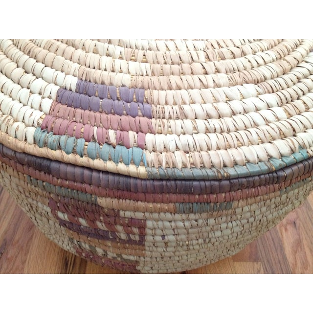 Large Hand Woven African Basket - Image 6 of 7