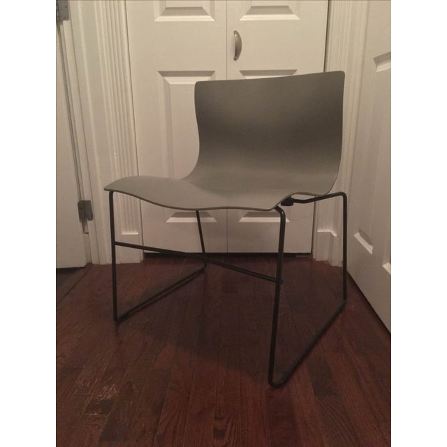 Vignelli Knoll Grey Armless Handkerchief Chair - Image 2 of 8