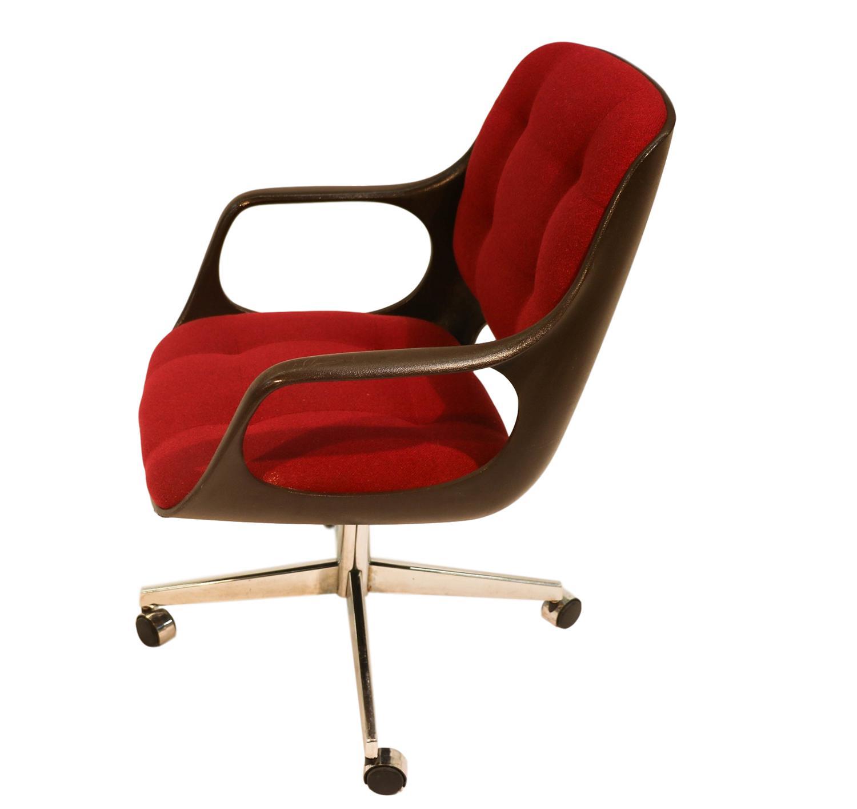 Chromecraft Mid Century Modern Herman Miller Style Office Chair   Image 3  Of 10