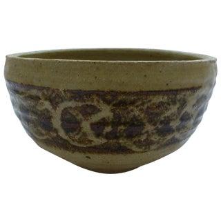Mid-Century Studio Pottery Decorated Bowl