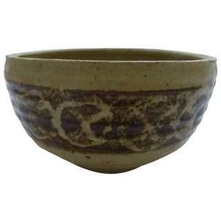 Mid-Century Studio Pottery Decorated Bowl
