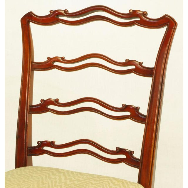 Six Ribbon Back Chippendale Dining Chairs - Image 7 of 10
