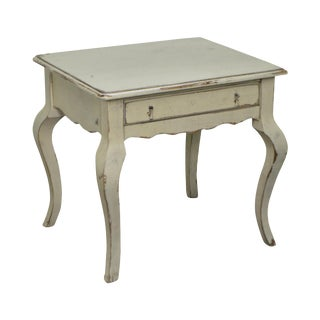 Habersham Plantation Distressed Painted 1 Drawer Side Table