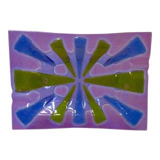Higgins Modernist Purple Glass Platter