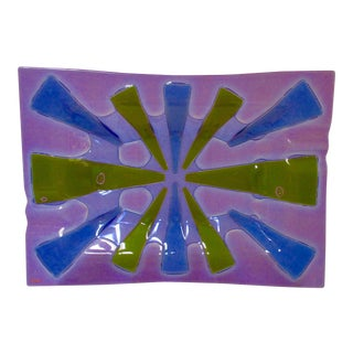 Higgins Modernist Purple Glass Platter