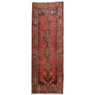 Vintage Persian Hamedan Runner - 3′9″ × 10′10″