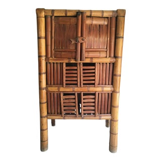 Antique Tapered Chinese Bamboo Cabinet Circa 1700