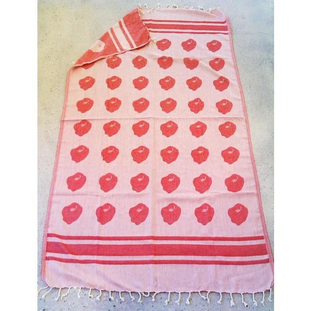 Image of Linen Cotton 'Apple Pop' Towalla