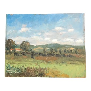 French Countryside Impressionistic Landscape Painting