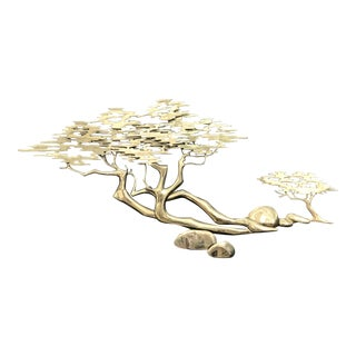"Bijan ""Pebble Beach"" Brass Wall Sculpture"