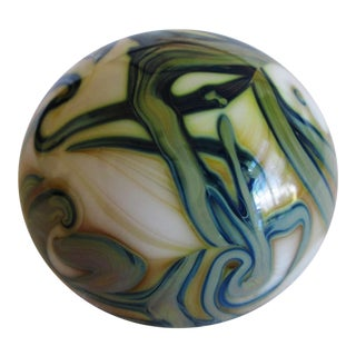 Ivory & Green Free Form Paperweight