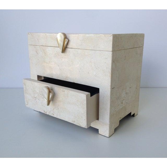 Maitland-Smith Vintage 1970s Tessellated Stone Box - Image 8 of 11