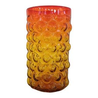 Blenko Husted Bubble Vase