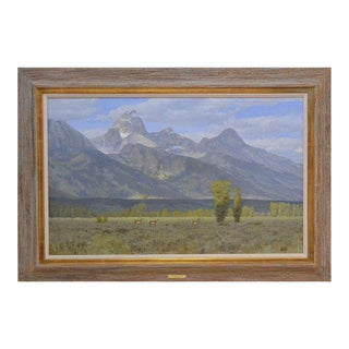 """""""Jackson Hole and the Tetons"""" Oil Painting"""