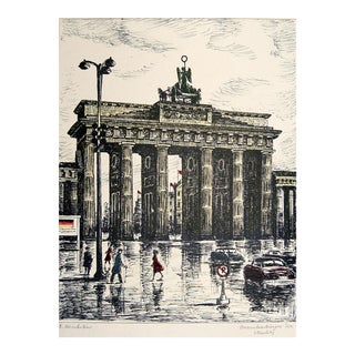 'Brandenburg Gate, Berlin' Lithograph