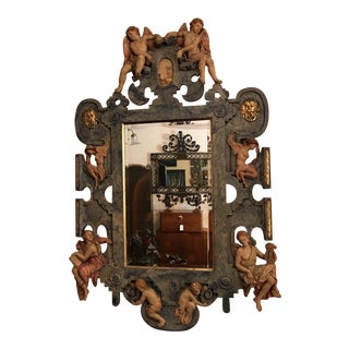 Hand Carved Lambasted Mirror