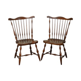 Harden Solid Cherry Windsor Style Side Dining Chairs - a Pair