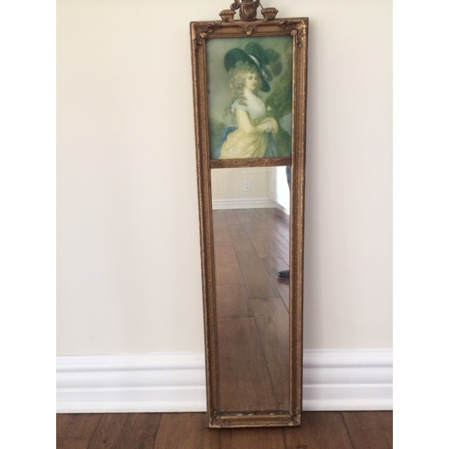 Trumeau Mirror with 18th Century Woman - Image 2 of 6