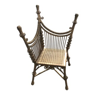 Heywood-Wakefield Gold Wicker Photographer's Chair