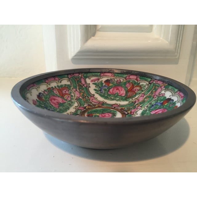Hand Painted Ceramic & Pewter Dish - Image 3 of 10