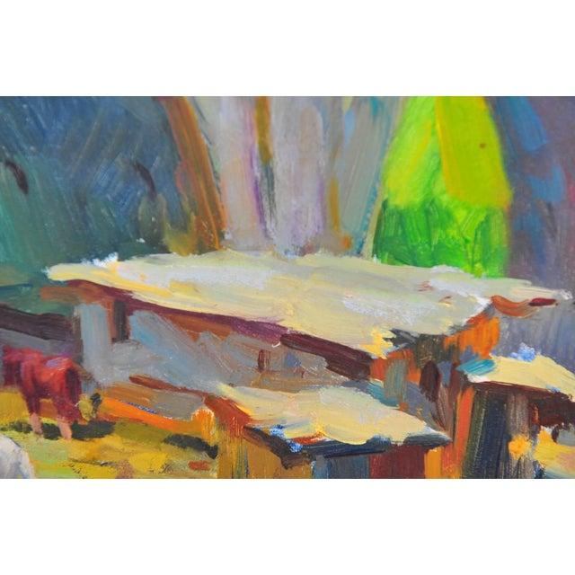 Ovanes Berberian Under the York Bridge Painting - Image 5 of 10