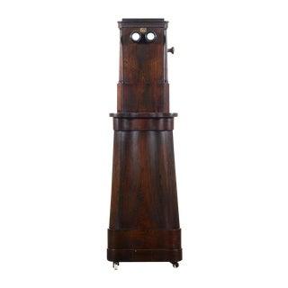 Alex Beckers 1859 Revolving Mahogany Stereoscope