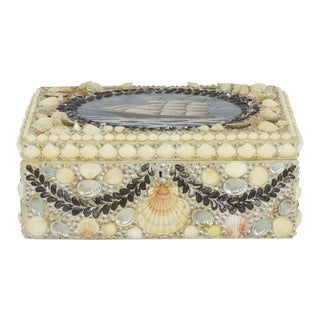Large Decorated Seashell Box in Nautical Motif