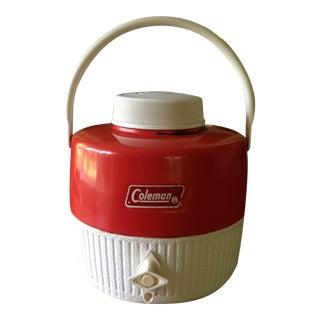 Vintage Red Metal & Plastic Coleman Cooler